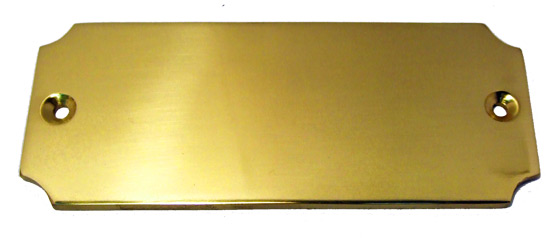 Solid Brass Door Plate Design D