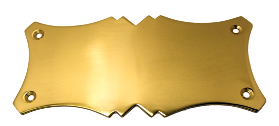 solid brass door plate design p