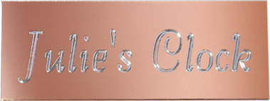 Bright Copper Engraving Plate