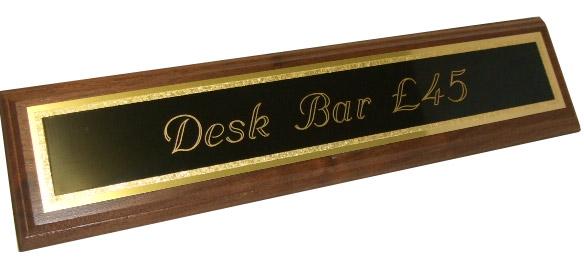 Solid Mahogany Desk Bar