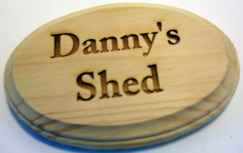 Oval Bevelled Plaque