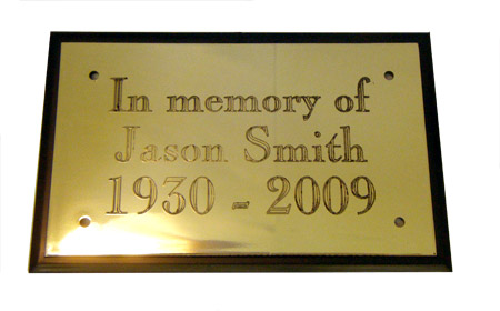 Engraved Brass Effect Plastic Plate