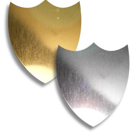 Regular Shaped Flat 40mm x 35mm Shields