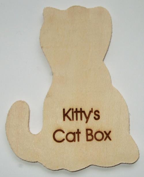 Cat Wooden Plaque