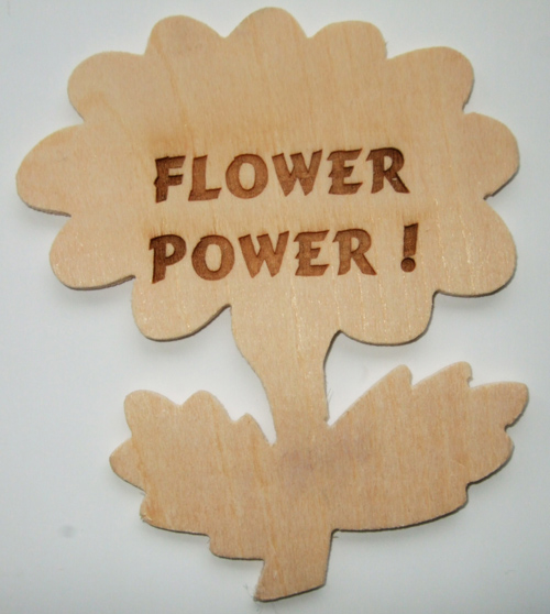 Flower Wooden Plaque