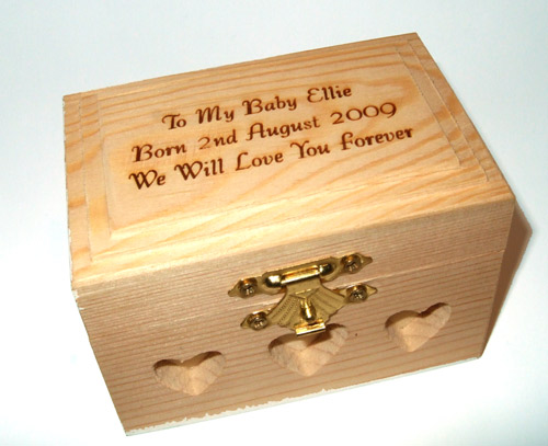 Engraved Mini Wooden Jewellery Box
