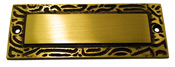Solid Brass Door Plate Design C