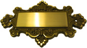 Solid Brass Door Plate Design R