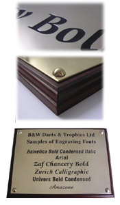 Mounted Brass Plaque 12 inches by 8.5 inches