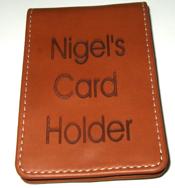Laser Engraved Card Holder