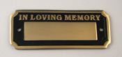 Bench / Wall Cast Brass Memorial Paque