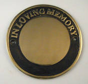 Round Cast Brass Memorial Paque