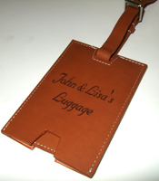 Laser Engraved Luggage Tag