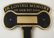 Cast Brass Dog  Memorial  Stake