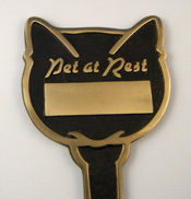 Cast Brass Cat  Memorial Stake