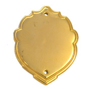 Gold Effect Decrotive Shaped Embossed Mini Shield