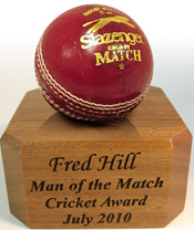 Solid Oak Cricket Ball Display Stand