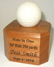 Solid Oak Golf Ball Display Stand