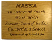 Engraved Oak Veneer Plaque