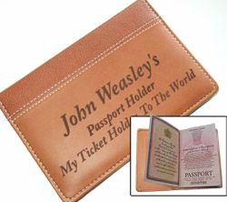 Laser Engraved Passport Wallet