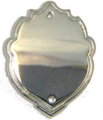 Chrome Steel Decrotive Shaped Embossed Mini Shield