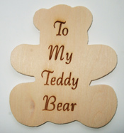 Bear Wooden Plaque