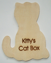 Cat Wooden Plaque