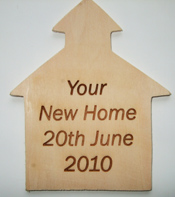 House Wooden Plaque