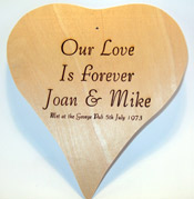 Engraved Wooden Heart Plaque